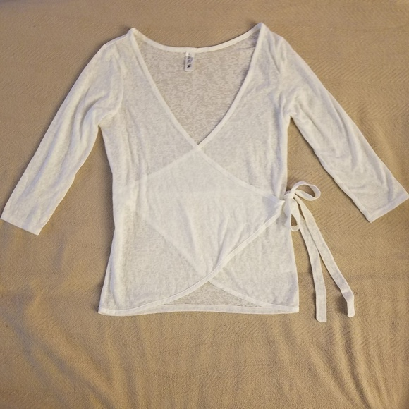 Tee Shop Tops - Tee Shop | NWOT Wrap top - size small